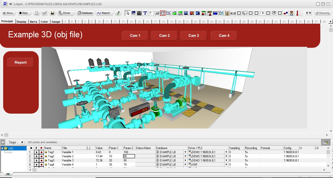 3D SCADA software